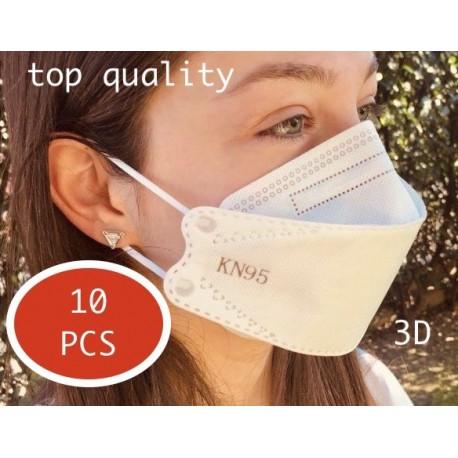10x KN95 mascherine 3d (FFP2)