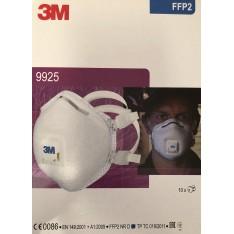 Mascherina 3M 9925 FFP2 R D con valvola e carboni attivi